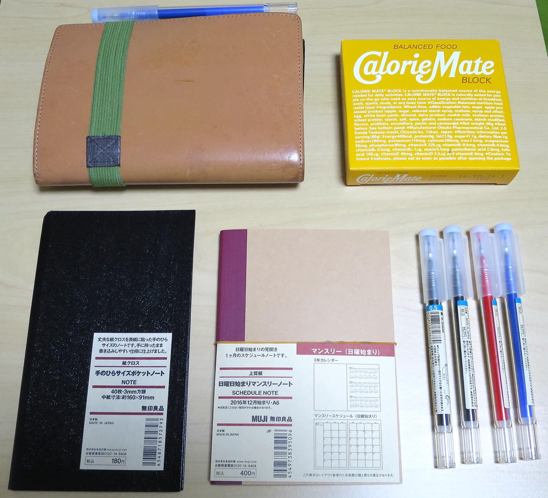 無印良品へ行って、来年の手帳を買ってきました~A6版・日曜日始まりマンスリーノート